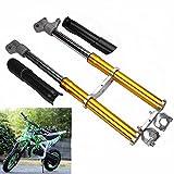 SELCAR 2 Stroke 49CC Motorcycle Front Fork Shocker for Mini Triple Dirt Pit Pro Trail Bike - Yellow