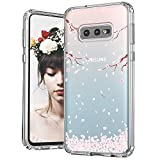 MOSNOVO Galaxy S10e Case, Cherry Blossom Floral Printed Flower Pattern Clear Design Transparent Plastic Back Case with TPU Bumper Gel Protective Case Cover for Samsung Galaxy S10e