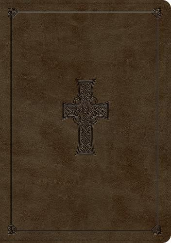 ESV Large Print Wide Margin Bible (TruTone, Olive, Celtic Cross Design)