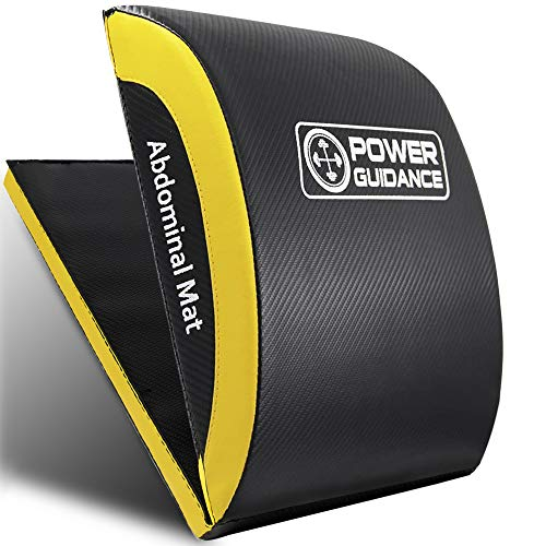 POWER GUIDANCE, Bauchmuskel-Matte,Ab Übung Matte Core Trainer,Sit-Up-Pad Bauch- und Rumpftrainer-Matte für volle Bewegungsfreiheit, Neu verlängert Zusammenklappbar