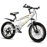 FUFU Bicicleta De Montaña De Velocidad Variable De 18/20 Pulgadas, Bicicleta De Acero De Alto Carbono, Peso Ligero Y A Prueba De Golpes, Adecuado for Niños De 7 A 14 Años