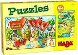 HABA 306162 - Puzzles Bauernhof, Puzzle ab 4 Jahren