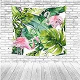 LoveTapestry Flamingo Estampado De Tapicería Plantas Verdes Flores Palmeras Decoración De Pared Sofá De Sala De Estar Sábanas 150X150Cm