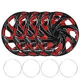 Rad Schutzvorrichtungen (4er Pack) Radkappen, Ersatz für Radkappen 4 teilig 15 Zoll Radkappen Radkappenabdeckungen für Radkappen...