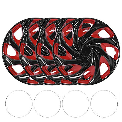 Rad Schutzvorrichtungen (4er Pack) Radkappen, Ersatz für Radkappen 4 teilig 15 Zoll Radkappen Radkappenabdeckungen für Radkappen Autozubehör Passend für R15 Reifen und Stahlfelgen