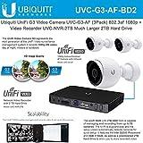 Ubiquiti UniFi Video Camera G3 UVC-G3-AF 1080p 3-Pack with Unifi Network Video Recorder UVC-NVR-2TB