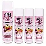 ABACUS Easy Bake Set de 4 (7626.4) – Acondicionador de horneado vegano sin experimentos con animales, spray antiadherente para engrasar moldes y chapas