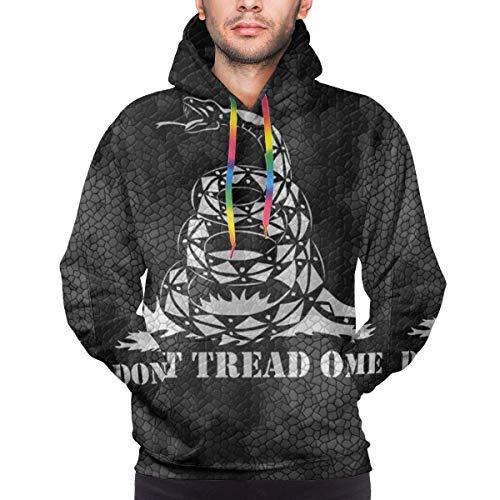 MayBlosom Sudadera con capucha para hombre con estampado 3D de Snake Do Tread On Me con bolsillo