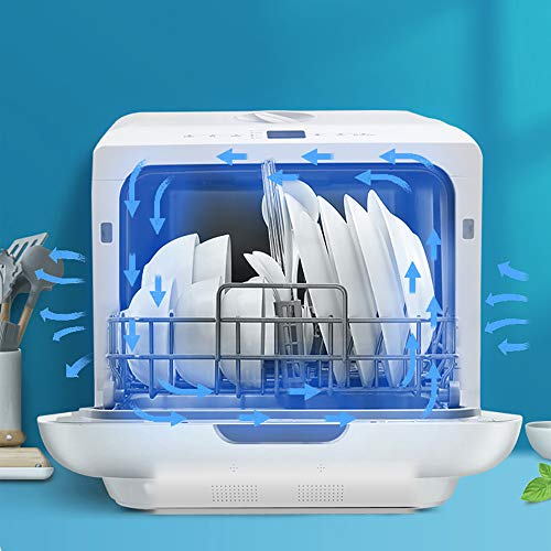 Haol Portable Desktop Dishwasher, Automatic Mini Installation-Free Drying and Disinfection Storage for Family Apartment Kitchens