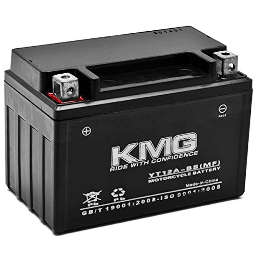 KMG Battery Compatible with Suzuki 400 AN400 Burgman 2003-2012 YT12A-BS Sealed Maintenance Free Battery High Performance 12V SMF OEM Replacement Powersport Motorcycle ATV Scooter Snowmobile