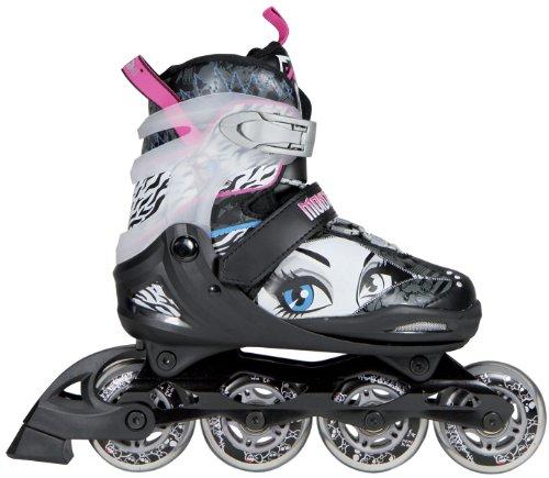 Monster High Kinder Skate Drop Dead Gogeous, schwarz Weiss grau, 34-37, 960100/34
