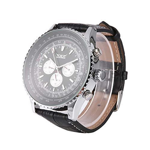 fghdf JARAGAR Multifuncional Caja de Acero Inoxidable Reloj de los Hombres automático Fecha Reloj