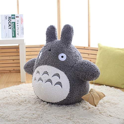 Xpccj Funda de cojín de peluche de Totoro con diseño de dibujos animados, diseño de gato gordo, chinchillas, para niños, color blanco, altura: 70 cm