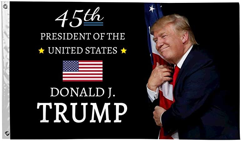 Amazon.com: SAMMALIFLAG 45th President for US Trump Hug Flag 3x5 Flags  Banner 3'x5' FT with Brass Grommets for President 2020 Home/Outdoor :  Patio, Lawn & Garden