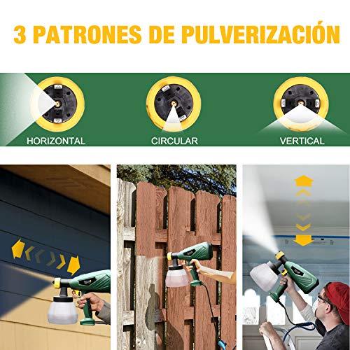 Meterk 400w Pistola de Pulverizaci/ón Pintura El/éctrica,800ml//Min con 3 Boquillas 3 Patrones de Pulverizaci/ón Pistola de Pintura