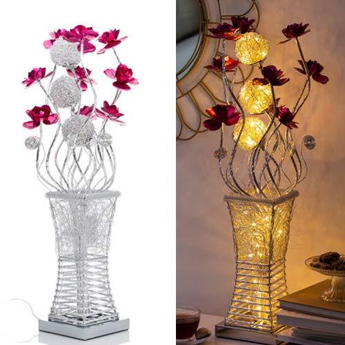 Deko Lampe in Form einer Vase mit LED Beleuchtung - Warmweiß oder Farbwechsel wählbar - Stimmungslicht