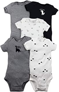 Carter's Baby Boys 5 Pack Bodysuit Set, Dinosaur, 9 Months