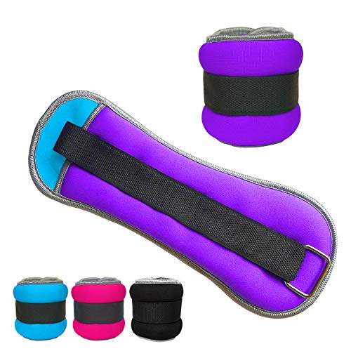 Vaupan Ankle/Wrist Weights, Small Leg Arm Hand Cuff Weights for Women Kids, Exercise Equipment with Adjustable Straps for Fitness Gym Dancing Walking Jogging Gymnastics Aerobics (1 Pair, 1lb 2lb)