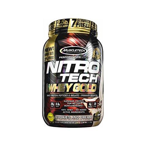 Muscletech Nitro Tech Whey Gold - 30 Serv. Fresa