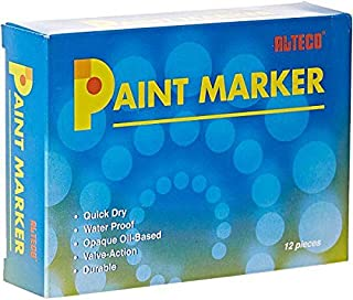Alteco Paint Marker White Pack of 12 Pieces