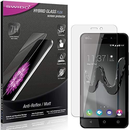 SWIDO Panzerglas Schutzfolie kompatibel mit Wiko Freddy Bildschirmschutz Folie & Glas = biegsames HYBRIDGLAS, splitterfrei, MATT, Anti-Reflex - entspiegelnd