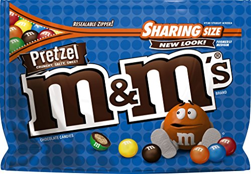 M&M'S Pretzel Chocolate Candy Sharing Size 8-Ounce Bag (226,8 g)