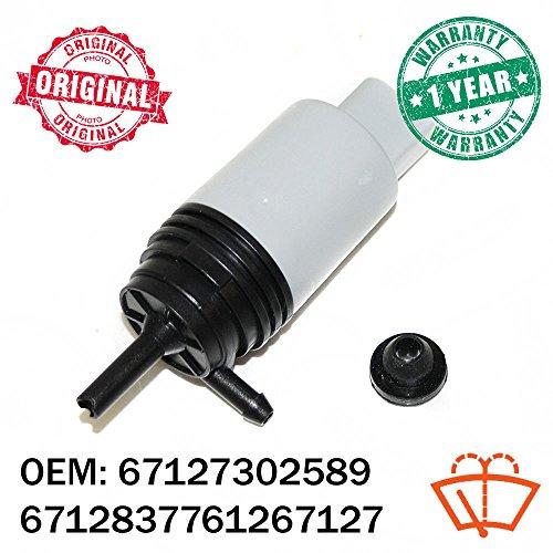 Preisvergleich Produktbild 12 V VORNE Scheibenwischer Windschutzscheibe Scheinwerfer Waschmaschine Fluid Pumpe OEM 67127302589 6712837761267127