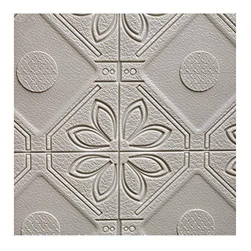 ZHANWEI 3D Stickers Muraux Papier Peints Auto-Adhésif Salon Chambre Modèle De Brique Mousse Anti-Collision Autocollants, 5 Couleurs 58.5x58.5cm (Couleur : D, Taille : 5 PCS)