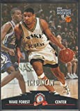 1997 Score Board Tim Duncan Spurs Rookie Basketball Card #1. rookie card picture