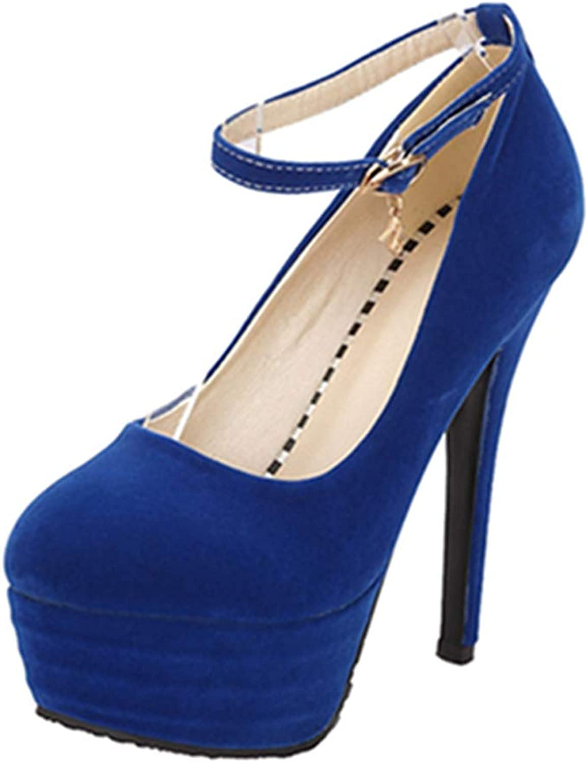 Onewus Pumps with Stiletto and Thick Platform Sexy Dressy shoes