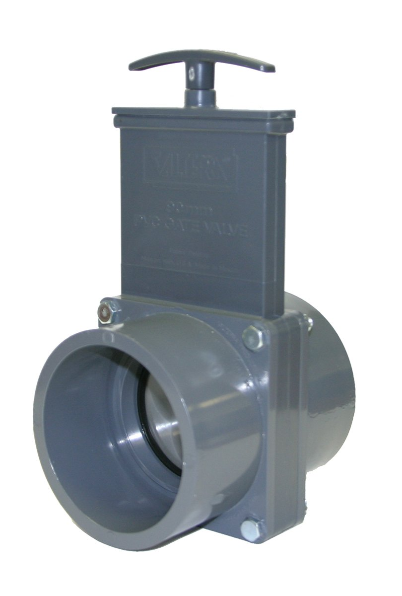 Valterra 8301PS PVC Metric Pneumatic Gate Valve Metal Air Cylinder Valterra Products 90 mm Slip