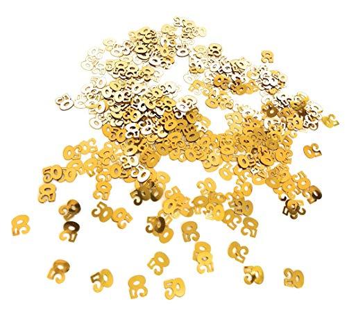 Goldhochzeit STREUTEILE Streudeko GOLDENE HOCHZEIT 50