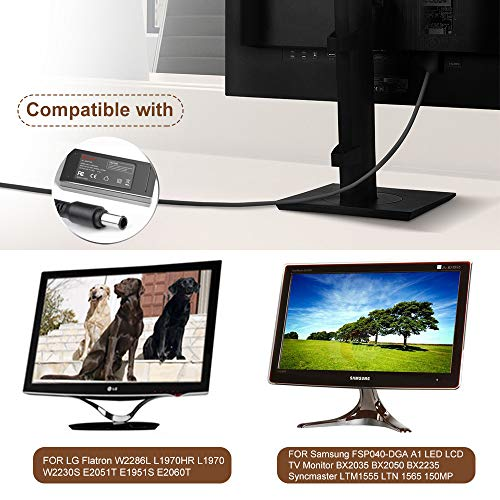 TAIFU 12V Netzteil für Samsung FSP040-DGAA1 LED LCD TV Monitor BX2035 BX2050 BX2235 Syncmaster LTM1555 LTN1565 150MP 1501MP 152B / für LG Flatron W2286L L1970HR L1970 W2230S E2051T E1951S E2060T 3.33A