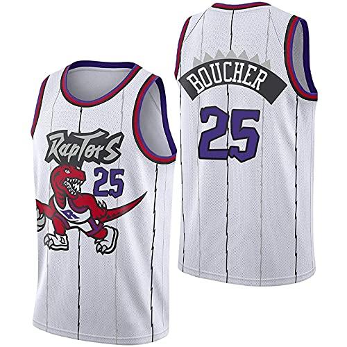 CYQQ Raptors 25# - Camiseta de Baloncesto para Hombre, New Season Boucher, edición de Ciudad Blanca, Secado rápido, Ropa sin Mangas para Entrenamiento de Baloncesto, Camiseta de Fan(Size:S,Color:A1)