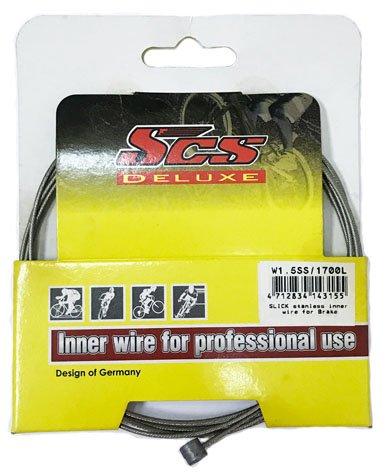SCS -W1.5SS/S Cable de freno de bicicleta (cable interior)/Acero inoxidable/850 mm+1700 mm...
