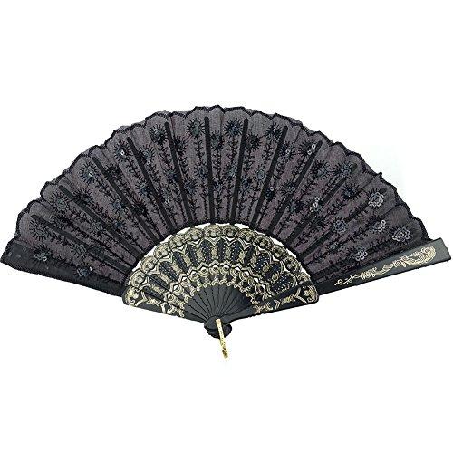 durable lace hand fan - 4