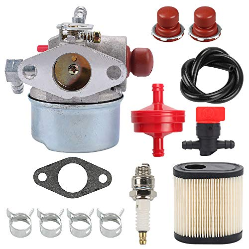 Mannial 640350 Carburetor with 36905 Air Filter fit Tecumseh 640350 640303 640271 640173 640174 640262 640262A LEV100 LEV105 LEV120 LV195EA LV195XA 6.75 HP Engine Toro 20016 20017 20018 Lawn Mower