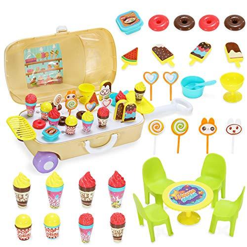 LYing Juguetes de la casa de Juegos de niños Mochila, Juguetes de Cocina Kit médico Paquete de Agujas Estetoscopio de simulación de enfermería