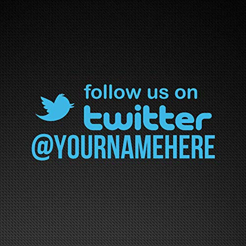 Wall Art Custom Twitter Stickers, Custom Twitter Decals, Vinyl Twitter Aufkleber Easy to Apply