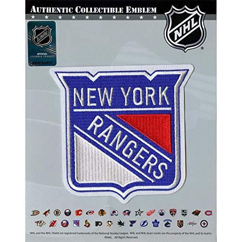 2019 New York Rangers Primary Shield Patch NHL Logo Jersey Embroidered Iron On