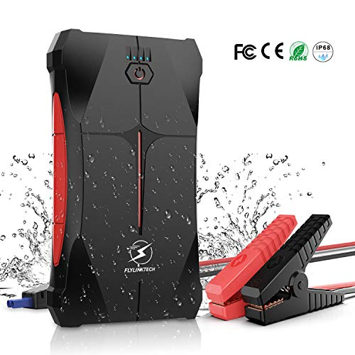 Car Jump Starter, 800A Peak 12000mAh Portable Car Battery Charger (Up to 4.0L Gas or 2.0L Diesel) IP67 Waterproof…