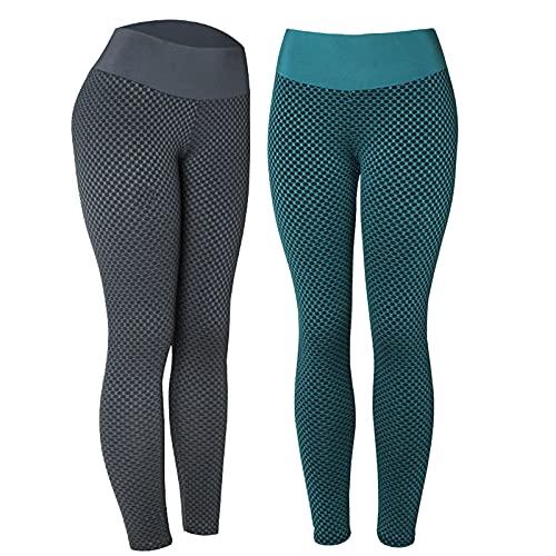 PANGOIE Leggings Mallas Mujer Pantalones Deportivos Super Suave Elásticos Yoga Alta Cintura