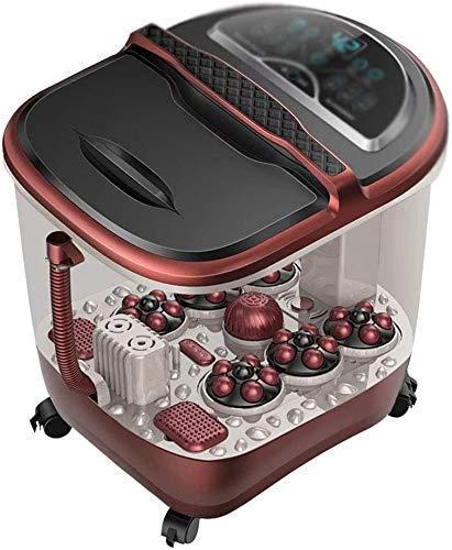 YANGSANJIN Masajeadores eléctricos Tina para pies Masaje automático Calefacción Pie Barril Hogar...
