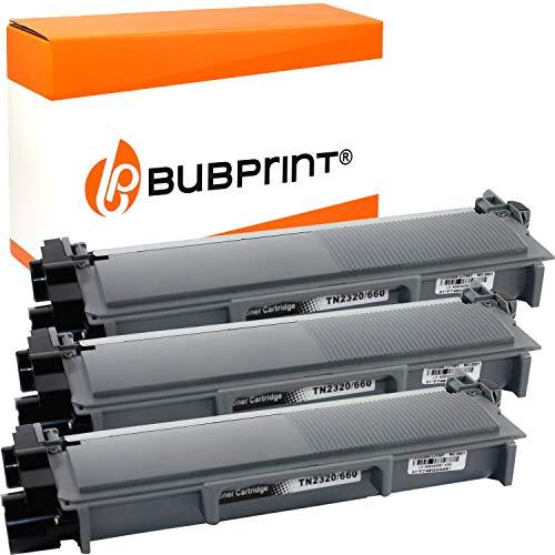 Bubprint Kompatibel Toner als Ersatz für Brother TN-2320 XXL TN-2310 für DCP-L2500D DCP-L2520DW HL-L2300D HL-L2340DW HL-L2360DN HL-L2365DW MFC-L2700DN MFC-L2700DW Schwarz 3er-Pack