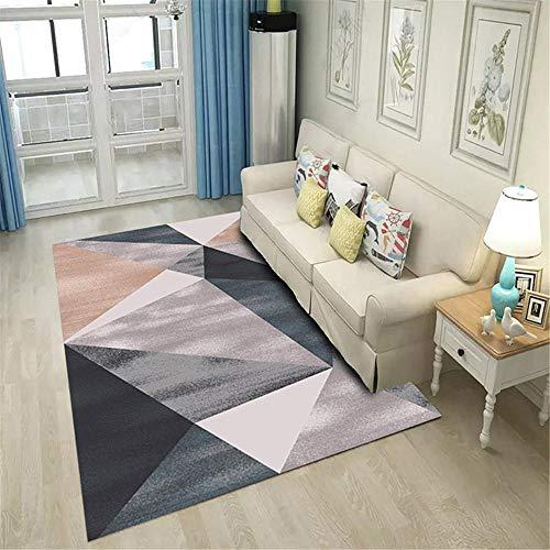 WQ-BBB Pequeño Tapete Absorbente Alfombra Comedor Diseño Geométrico De Mosaico Marrón Gris Negro Anti-Sucio Alfombras De Pasillo 40X60cm