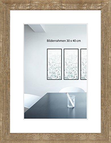 WANDStyle Bilderrahmen Strandhaus Stil 30x42cm DIN A3 I Farbe: Eiche-Optik I Fotorahmen I rustikaler Bilderrahmen Landhaus I Made in Germany I H750
