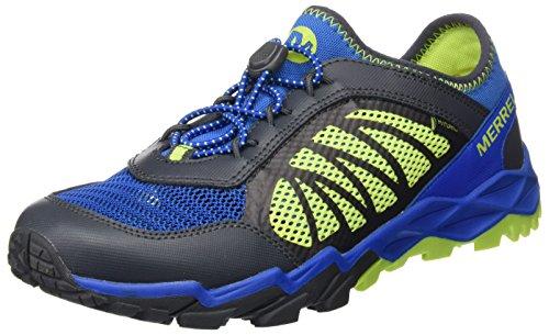 Merrell Merrell Jungen Ml-s Hydro Run 2.0 Traillaufschuhe, Mehrfarbig (Blue/Grey/Citron), 35 EU