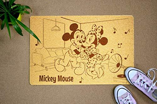 StarlingShop - Felpudo de Mickey y Minnie Mouse, diseño de Mickey Minnie Mouse
