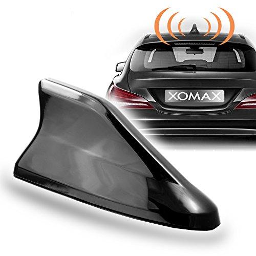 XOMAX XM-DAT04 Haifisch Auto Kombi-Antenne für GPS, DAB, DAB+, AM, FM Empfang, inkl. ca. 4m Verlängerungskabel