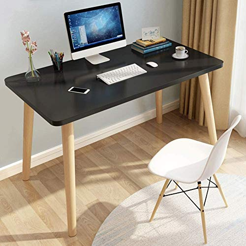 HIZLJJ Escritorio de la computadora, el estudio teórico simple moderna del escritorio de oficina PC portátil de escritorio de escritorio de la Oficina casa, la clase de estación de trabajo (35x24inch)